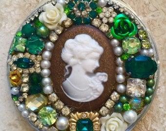 SALE!!!!  Jeweled Compact Mirror