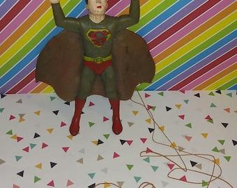 Vintage 1970s Ben Cooper Superman Rubber Jiggler