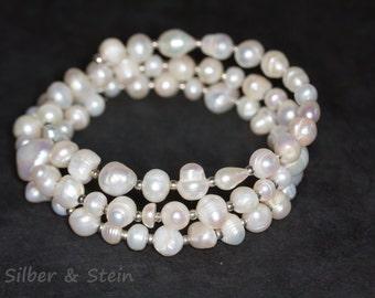 pearl bracelet silver