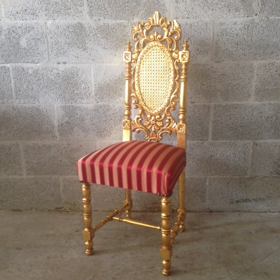 Gold throne chair antique italian rococo 1 by for Throne chair plans