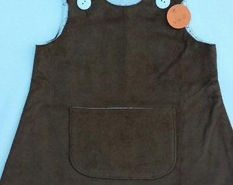 HALF PRICE SALE with Free Shipping -  Size 2 Girls Corduroy Pinafore