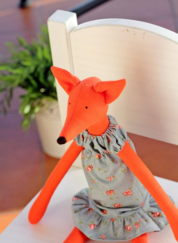 Ähnliche Artikel wie Tilda Rotfuchs im Kleid, Fox