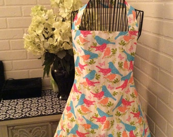Fully lined adult bird apron