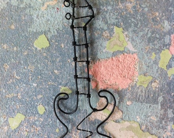 Wire guitar, Wall decor, Wire music instrument, Music gift idea, Best gift idea, Gift for him, Music art, art guitar, love music, metal art