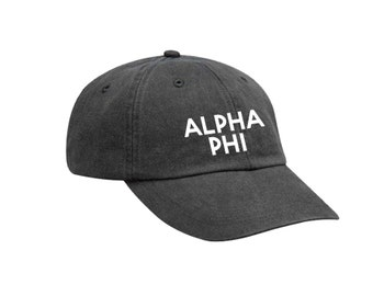 Alpha Phi Simple Hat Choose Your Colors Sorority Hat