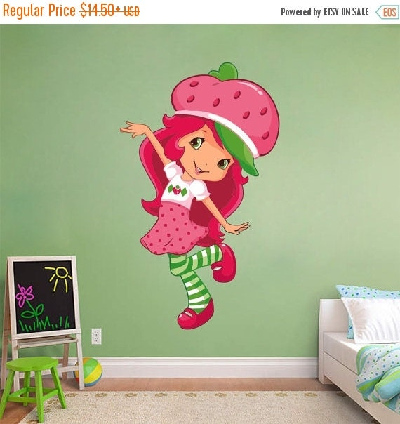 On Sale Strawberry Shortcake Decal Removable Wall Sticker Art & Strawberry Shortcake Wall Decals - Elitflat
