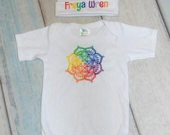 Rainbow Onesie Newborn Gift Set