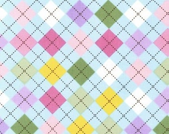 ON SALE!! Remix Argyle Fabric - Spring - sold by the 1/2 yard
