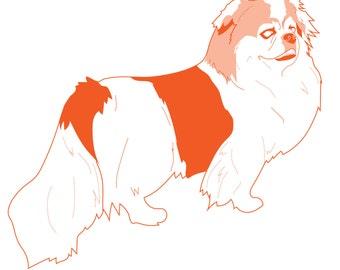 Pekingese Vector Art, Clip Art, Downloadable, Terrier, Small Dog, Marketing Promotion, Animal Advocacy, Illustration