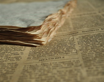 Coffee Dyed Paper.  Junk journal, journal paper, Faux Vintage Paper. Vintage Journal, Vintage.