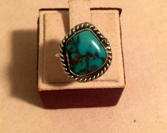 Turquoise Silver Native American Ring