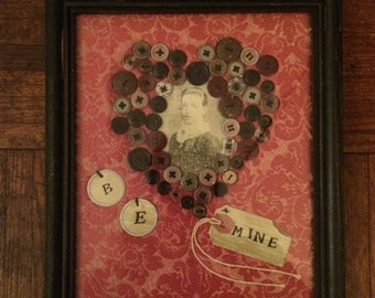 Framed Mixed Media Collage