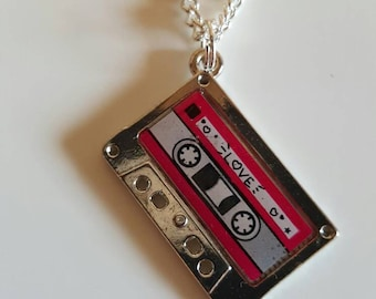 Love songs mix-tape Necklace cassette tape necklace