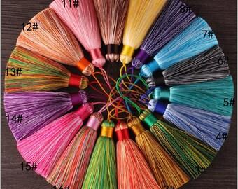 3.14''/8cm.OmbreTassels, Silk Tassels, Rainbow Tassels, Mala Tassels, Quality Tassels, Boho Tassels, Craft Supplies, Designer Jewelry Making