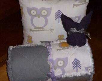 Owl Rag Quilt Set