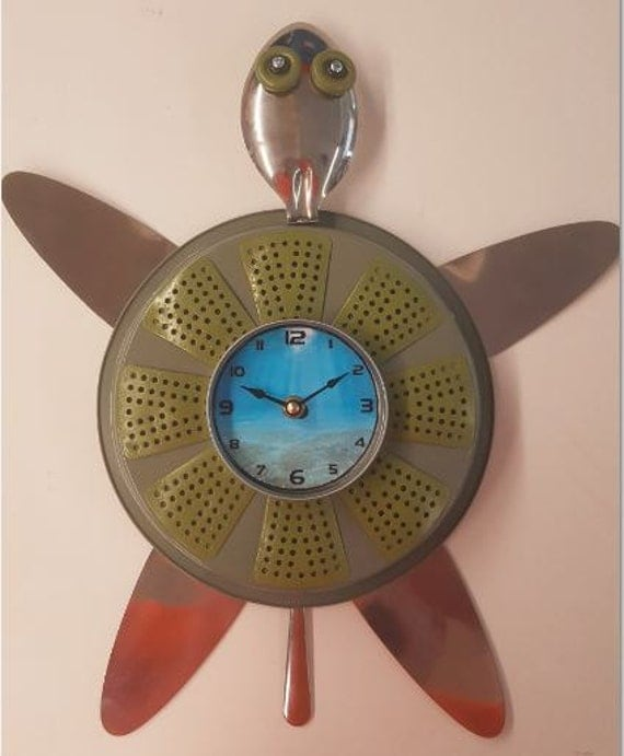 Handmade Turtle Clock