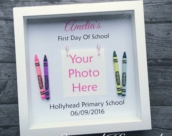 Personalised My First Day At Nursery Primary School Pre-School Photo Picture Frame Keepsake Memory Children Unique Handmade Bespoke