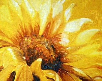Flower Wall Art, Sunflower Painting, Gift Ideas for Women, Large Painting, Large Wall Art, Sunflower Art, Floral Wall Decor, New Home Decor