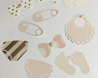 Rose Pink and Gold Baby Girl Embellishments