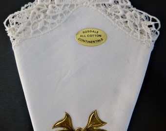 Vintage white Rosdale handkerchief bridal wedding