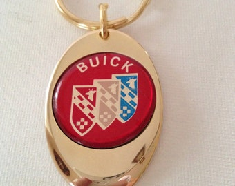 Buick Keychain Solid Brass Gold Plated Key Chain Personalized Free