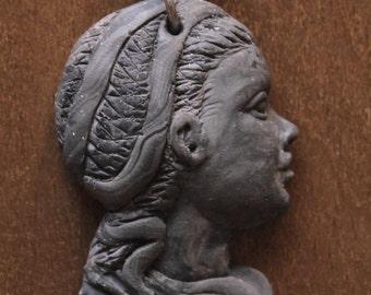 Cameo girl - Young Girl Cameo pendant during