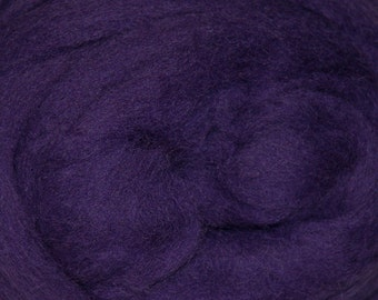 Purple Corriedale Wool Roving One Ounce for Felting and Spinning