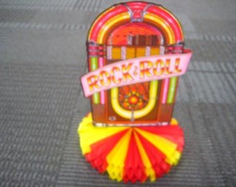 Large Vintage Rock & Roll 1950's Jukebox Centerpiece Party Decoration