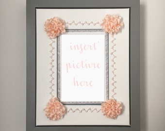The Emma Display Frame-Hand Embroidered Silk Ribbon Flower Picture Frame