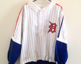 Detroit Tigers Vintage Starter Half Button Pull Over