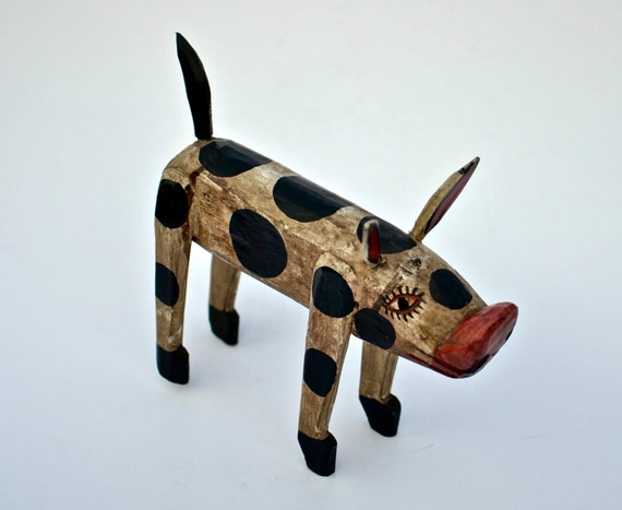 Little pig cow home decor wood decor antler decor pig for Pig decorations for home