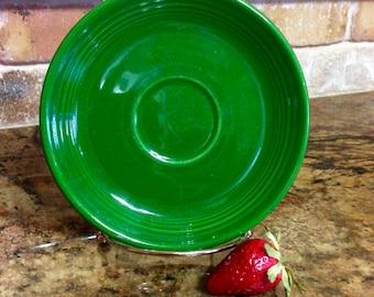 Vintage Fiesta Saucer Medium Green - Rare HTF Color