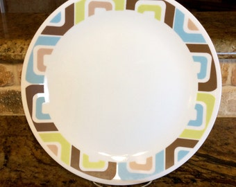 Reserved for mib1990 - Set of 3 Corelle Corning Dinner Plates in Squared Pattern