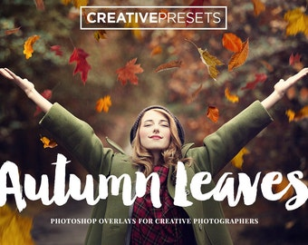20 Autumn Falling Leaves Overlays for Photographers & Graphic Designers