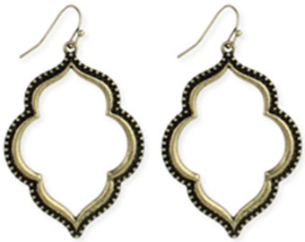 Moroccan Dream Earrings Goldtone