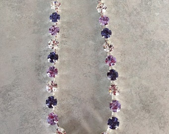 Purple handmade swarovski necklace