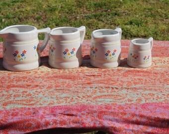 4 Piece Vintage Ceramic Measuring Cups