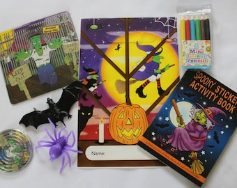 Halloween children's party bags - with 6 x fillings