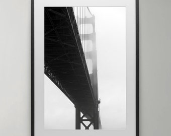 Golden gate bridge,San Francisco, San Francisco Art, San Francisco Poster, Art Print, Travel Poster, wall art, Instant Download, Home decor.