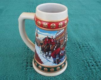 1994 Budweiser Holiday Stein; Budweiser Hometown Holiday