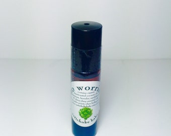 organic no worries anxiety relief roll on perfume, apply to pulse points as needed