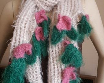 free shipping-handmade knitted shawl-Beautiful Romantic Shawl