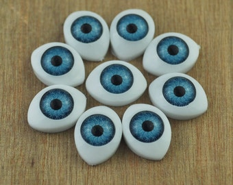 Free Shipping!!30pair Doll Eyes Plastic Eyes Craft Eyes Flat Back,blue eye,eye wholesale,doll supplies,eyes supplies --11x15mm