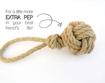 Hemp Rope Dog Toy - Tug of War - Retrieving - for all Dog sizes