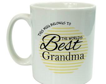 The Worlds Best Grandma Ceramic Mug Gift