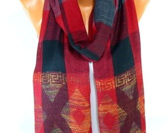 Unisex Scarf, Shawl, Cotton Scarf, Scarves, Fall and Winter Fashion Accessories, Mens Scarf, Womens fashion Accessories, Gift for Christmas