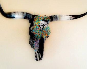Sacred Spirit, Mosaic cow skull, Custom, Sold