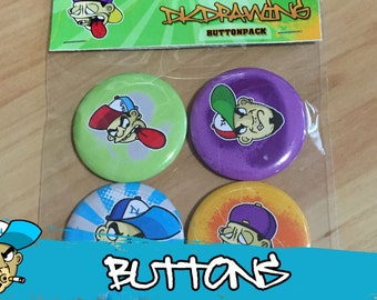 Graffiti Character Buttonpack 2nd Edition by DKDrawing SELFMADE