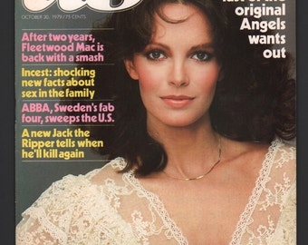Mature Vintage US Magazine : October 1979 Jackie Jaclyn Smith Charlie Angles EX+/NrMt White Pages High Grade Unread No Label