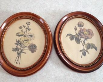 Botanical Prints in Oval Frames (2)